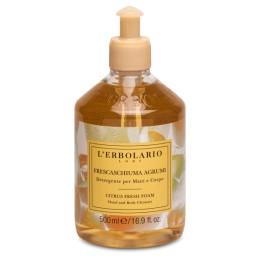 'Erbolario Żel do mycia ciała, twarzy i rąk z ekstraktem z owoców cytrusowych działanie oczyszczające 500 ml