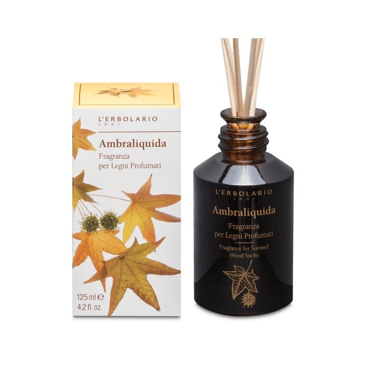 L'Erbolario Ambraliquida perfumy do patyczków zapachowych (dyfuzor),125ml