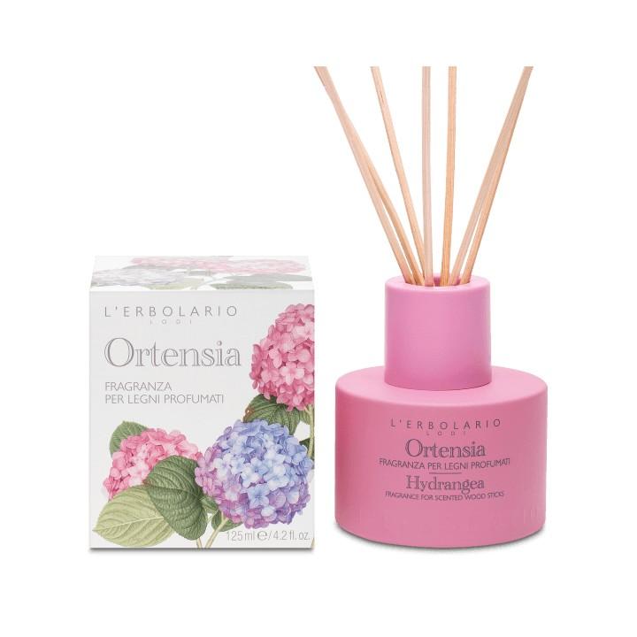 L'Erbolario Ortensia perfumy do patyczków zapachowych (dyfuzor), 125 ml