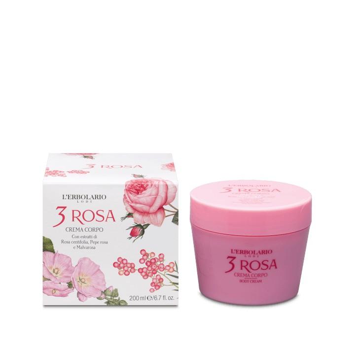 L'Erbolario 3 Rosa perfumowany krem do ciała, 200 ml