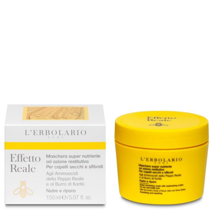 L'Erbolario Effetto Reale intensywnie odżywiająca i wzmacniająca maska do włosów suchych i zniszczonych, 150 ml