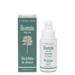 L'Erbolario Absynt Olejek do brody z 3 gatunków Artemisii dla mężczyzn, 30 ml