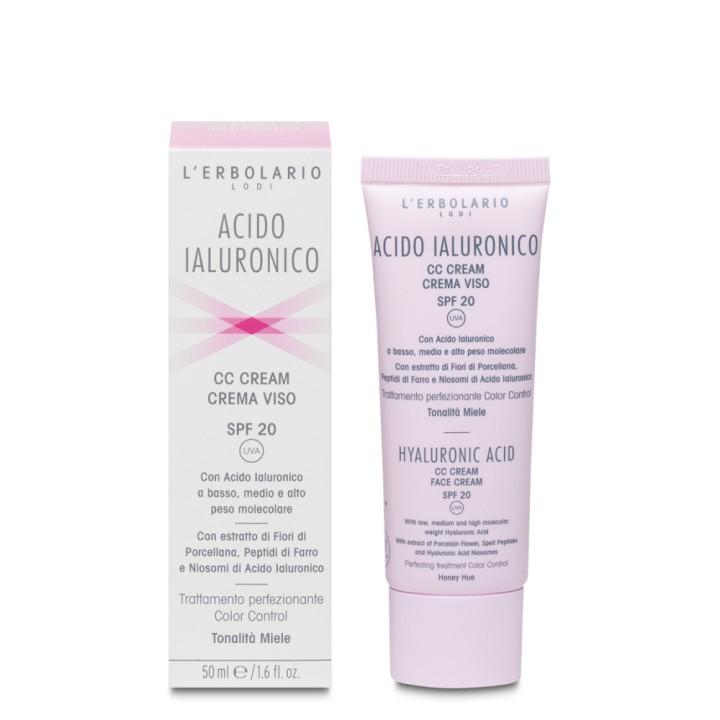 L'Erbolario Kwas Hialuronowy krem CC do twarzy SPF 20 - odcień miodowy, 50 ml