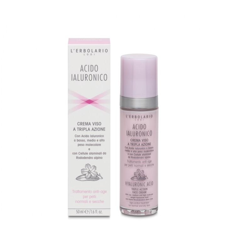 L'Erbolario Kwas Hialuronowy krem do twarzy przeciw oznakom starzenia do cery normalnej i suchej, 50 ml