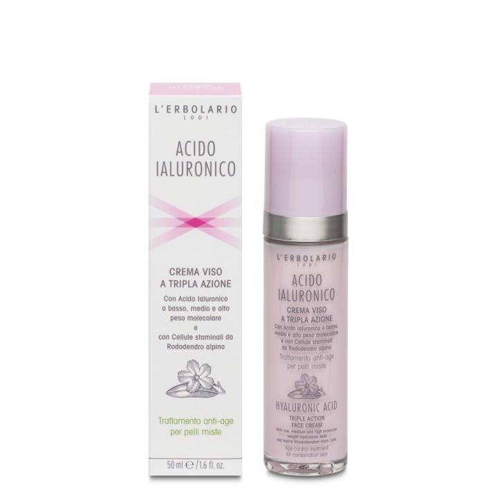 Acido Ialuronico krem do twarzy przeciw oznakom starzenia do cery mieszanej, 50 ml