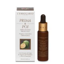 L'Erbolario Solare ochronne serum do twarzy przed i po opalaniu przeciw oznakom starzenia 28 ml