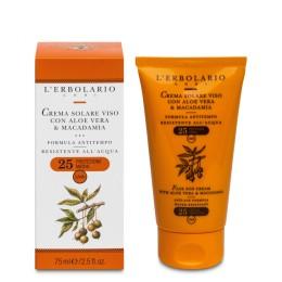 L'Erbolario Solare Krem do opalania do twarzy przeciw oznakom starzenia SPF 25 75 ml