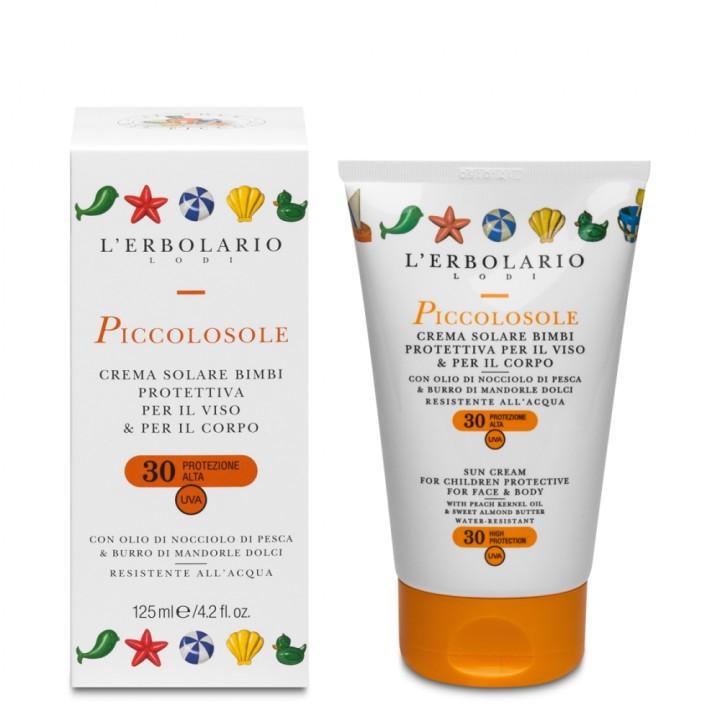 L'Erbolario Piccolosole Krem do opalania dla dzieci do twarzy i ciała SPF 30 125 ml