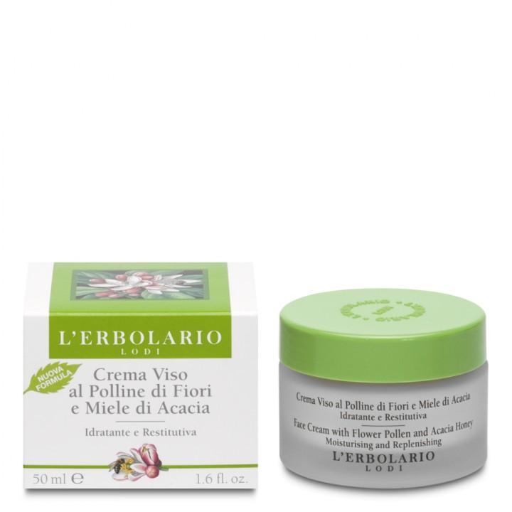 L'Erbolario odżywczy krem do twarzy z pyłkiem kwiatowym i miodem akacjowym, 50 ml