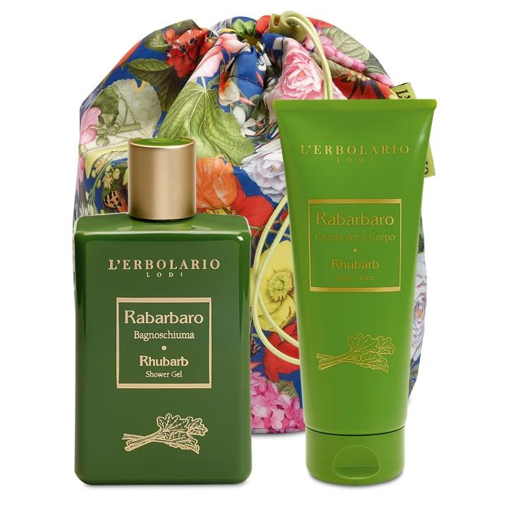 L'Erbolario Rabarbaro Beauty Bag DUO - pianka do kąpieli i krem do ciała