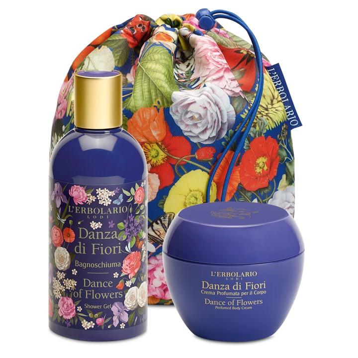 L'Erbolario Danza di Fiori Beauty Bag DUO - pianka do kąpieli, perfumowany krem do ciała