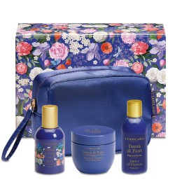 L'Erbolario Dance of Flowers Zestaw z kosmetyczką - woda perfumowana, pianka do kapieli, perfumowany krem do ciała