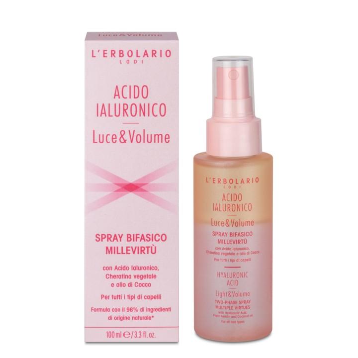 Acido Ialuronico Luce e Volume spray dwufazowy do włosów, 100 ml