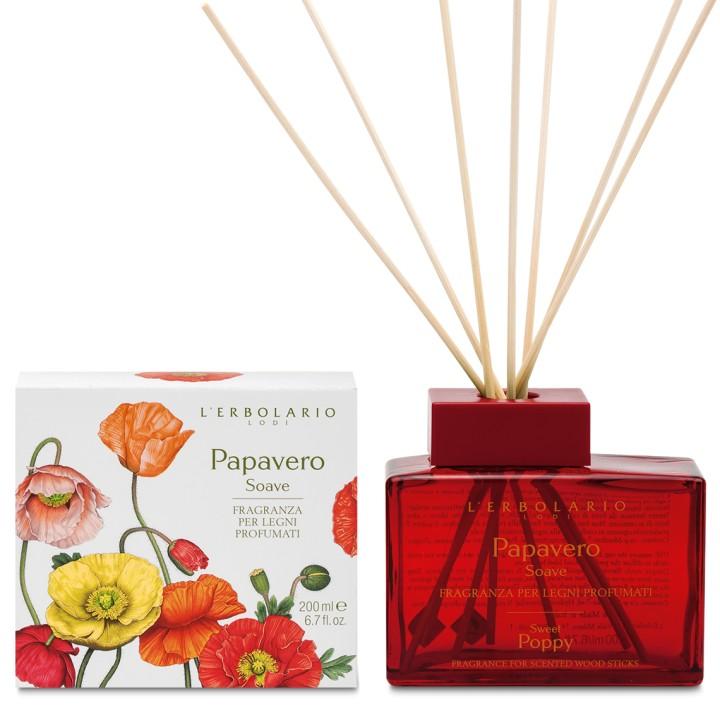 L'Erbolario Papavero Soave perfumy do patyczków zapachowych (dyfuzor), 200 ml