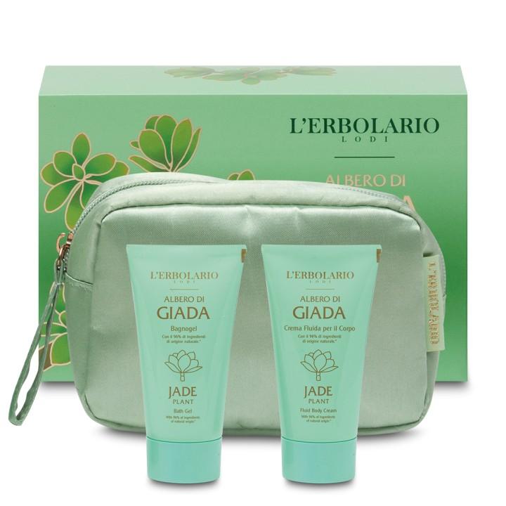 L'Erborio Albero di Giada zestaw pianka myjąca+emulsja do ciała 2x75ml z kosmetyczką