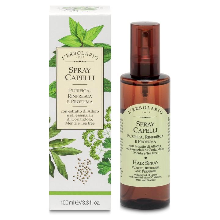 L'Erbolario Perfumowany spray do włosów z efektem oczyszczenia i odświeżenia,100ml