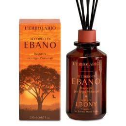 L'Erbolario Accordo di Ebano, perfumy do patyczków zapachowych, 200 ml