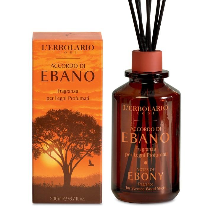 L'Erbolario Accordo di Ebano perfumy do patyczków zapachowych (dyfuzor), 200 ml
