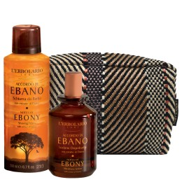 L'Erbolario Accordo di Ebano Beauty Set - pianka do golenia 200 ml + woda po goleniu 100 ml