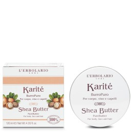 L'Erbolario Karité Czyste masło do ciała, twarzy i włosów, 120ml