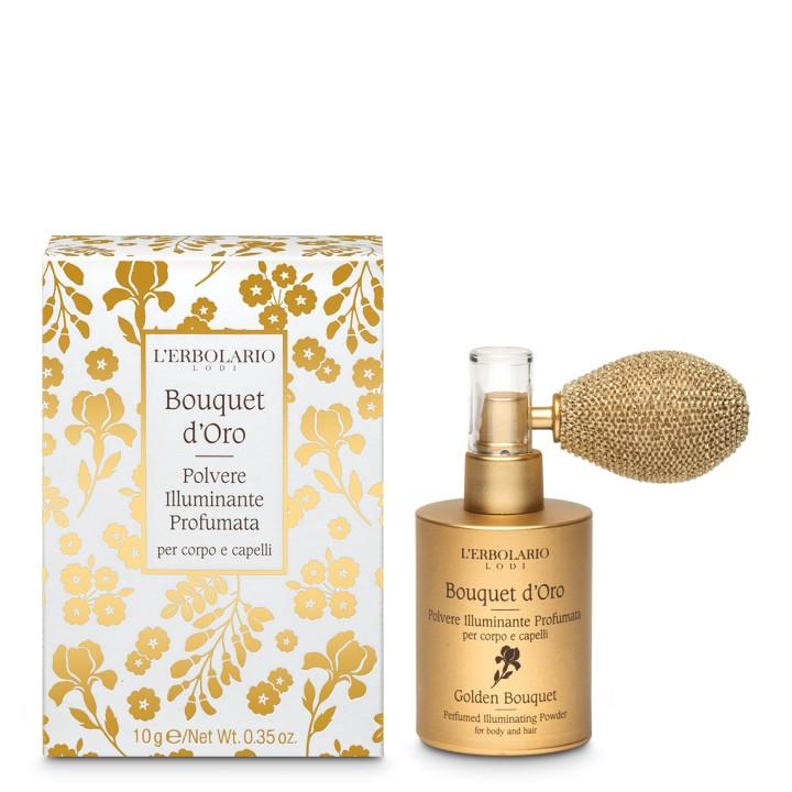 Bouquet d'Oro Rozświetlający puder perfumowany do ciała i włosów, 10g