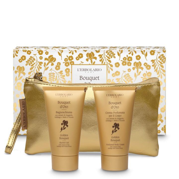 L'Erbolario Bouquet d'Oro Zestaw z kosmetyczką - edycja limitowana-