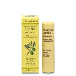 L'Erbolario Ochronny balsam do ust z oliwką i drzewem herbacianym, 4,5ml