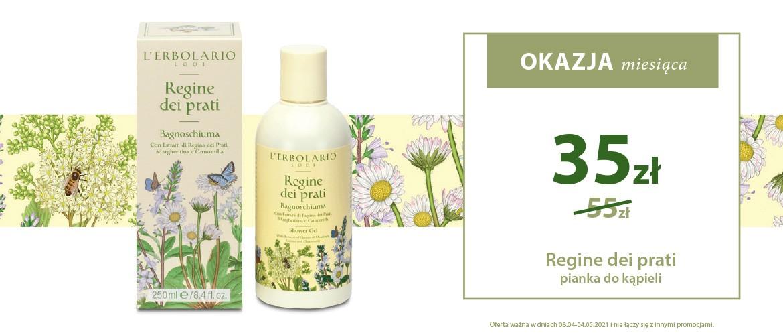 Okazja miesiąca! Powitaj wiosnę z Pianką do kąpieli Regine dei Prati o zapachu najpiękniejszych kwiatów łąki!