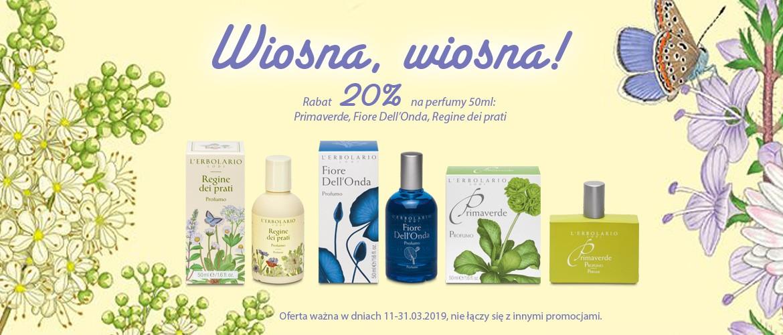 Wiosna, Wiosna! Najpiękniejsze wiosenne zapachy z rabatem 20%