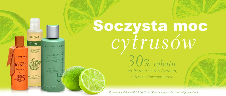 Soczysta moc cytrusów z rabatem 30% na Frescaessenza, Accordo Arancio i Citrus!