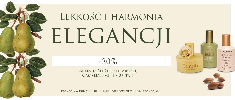 Lekkość i harmonia elegancji! Kamelia, Legni Fruttati i All'olio di Argan - 30%