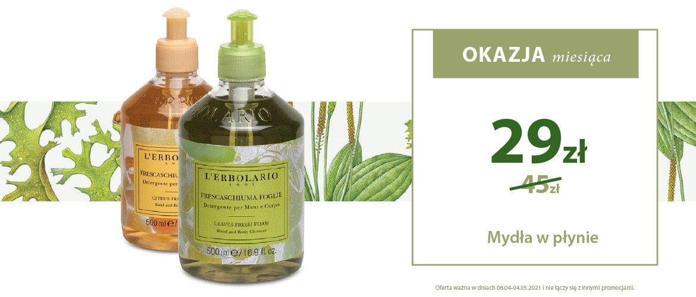 Okazja Miesiąca! Naturalne mydła w płynie dla idealnej higieny ciała i rąk w super cenie 29zł