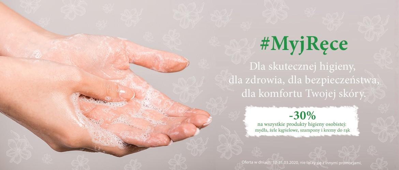 #MyjRęce - dla higieny, dla zdrowia! Produkty higieny osobistej z rabatem 30%