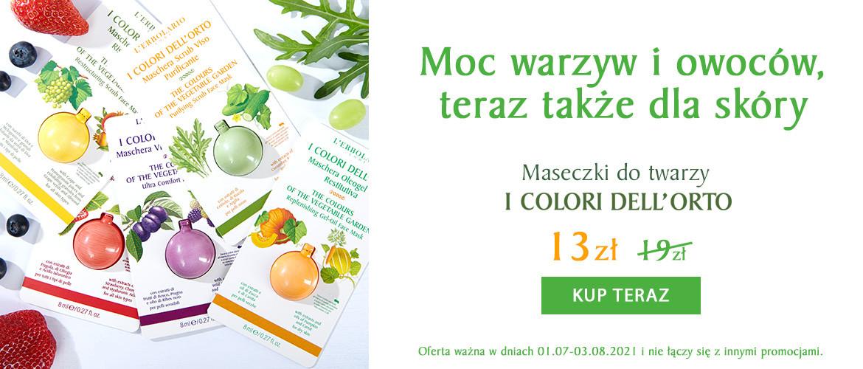 Koktajl dla skóry! Warzywno - owocowe maseczki I Colori dell'Orto za 13zł!