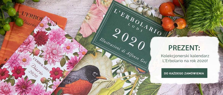 Kolekcjonerski Kalendarz L'Erbolario 2020 w PREZENCIE do każdego zakupu!