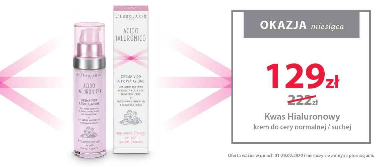 Najlepsza okazja miesiąca! Nasz bestseller Acido Ialuronico krem do twarzy do cery suchej i normalnej!