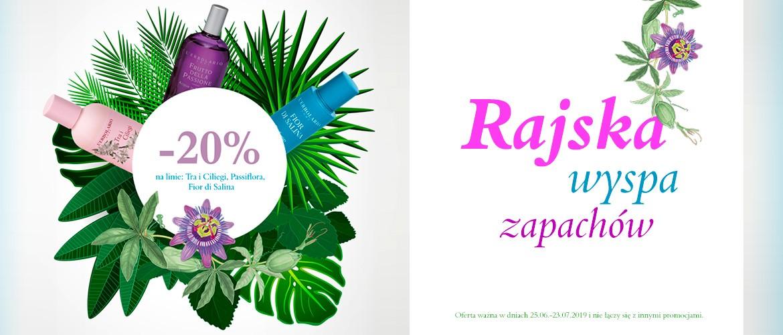 Rajska wyspa zapachów! Fior di Salina, Tra i Ciliegi oraz Passiflora do 23 lipca z rabatem 20%